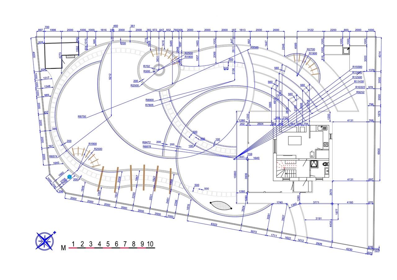 Разбивочный чертеж обустройства и озеленения участка