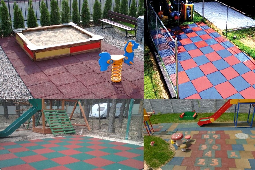 Детские площадки и спортивные площадки
